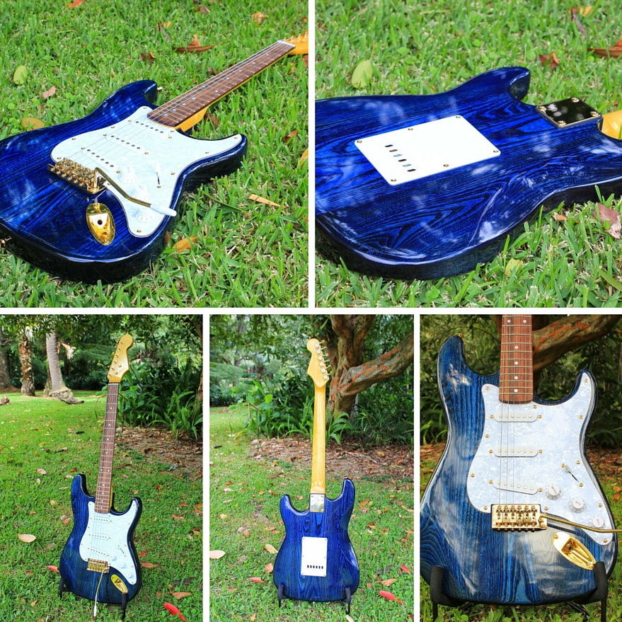 Fender Stratocaster style guitar kit ash body