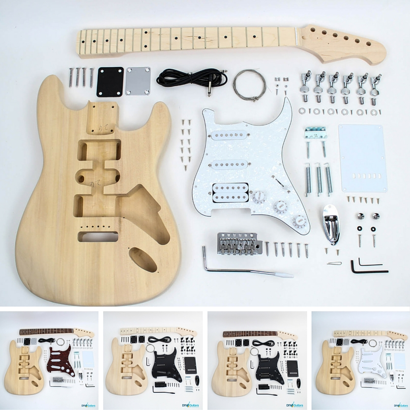 Fender Stratocaster DIY Electric Guitar Kit Hardware and Electronics