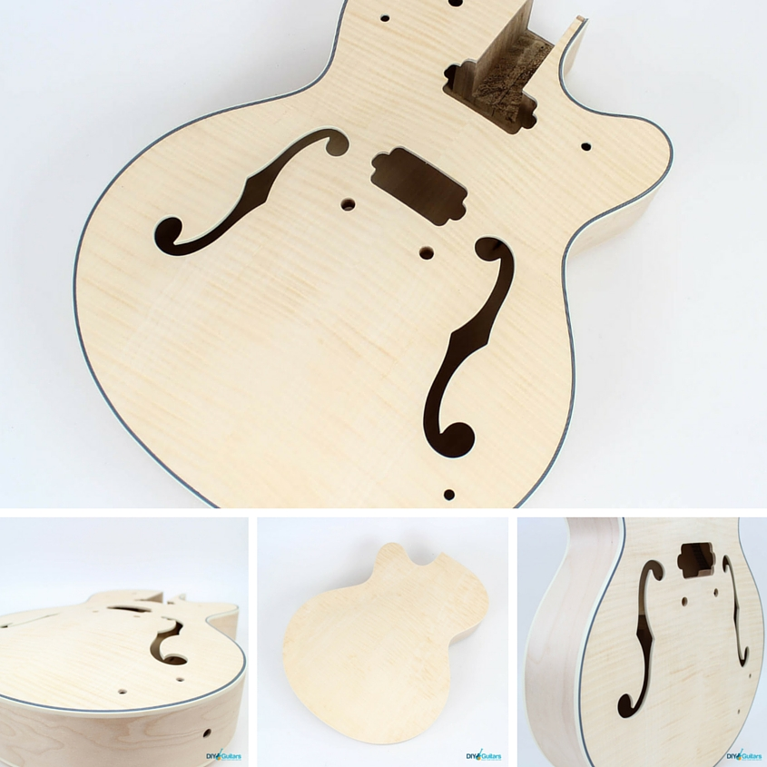 Gretsch style DIY guitar kit body