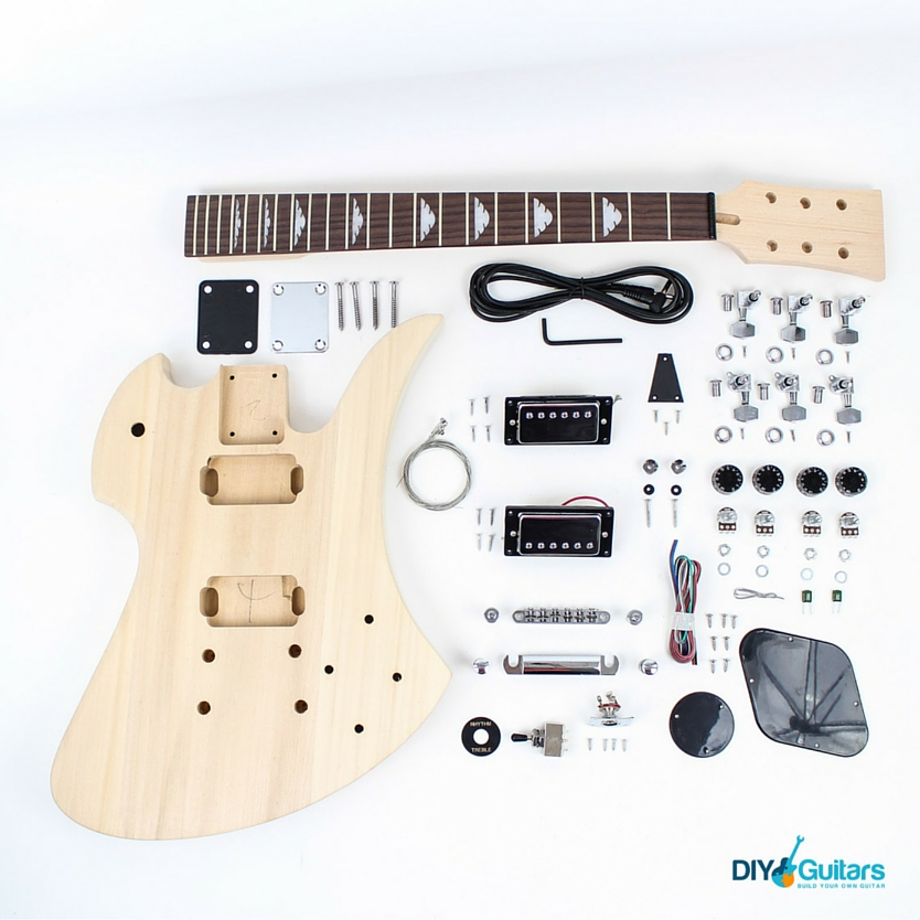 BC Rich Mockingbird DIY Electric Guitar Kit Parts