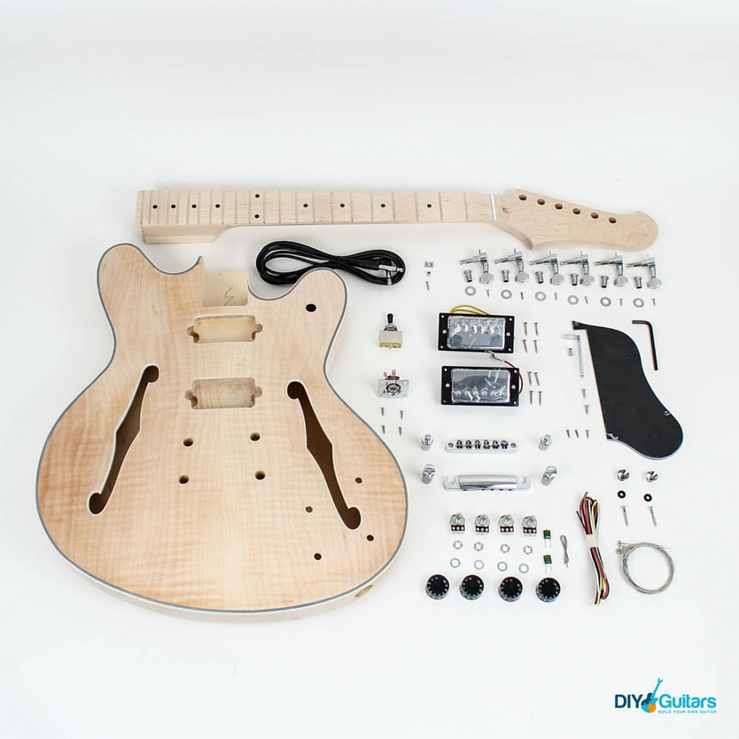 Fender Starcaster DIY Guitar Kit Full Contents